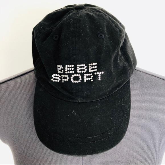 1e065471d080d bebe Accessories - Bebe Sport Rhinestone Black Baseball Cap Bedazzled